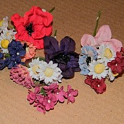 Vintage Petite  Spray Of Assorted Flowers--12 Available