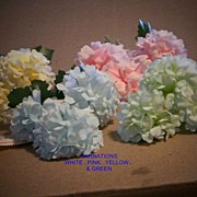 Mini Hydrangea Made in EAST Germany..Vintage Millinery Flower..NEW/Old Stock...4 Colors Availa