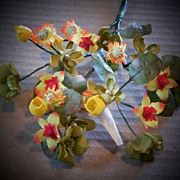 Vintage 50's East Germany Floral Spray...Shades Yellow/Green...New/Old Stock...3 Available