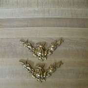 Vintage Brass Ormolu..V..Shaped..Roses..Excellent Condition..4 Available
