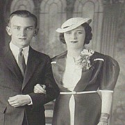 Vintage...Photo...1940's Portrait Of A Couple...Interesting!