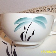 Earlton Pottery Hand Painted Palm Tree Design Cup/Saucer [6]