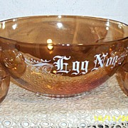 Vintage Copper Tint  Egg Nog  Set  With  Six  Cups