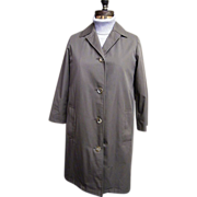 Ladies Aquascutum Dark Khaki Raincoat With Wool Blend Lining..S