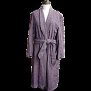 SALE Dressing..Smoking..Lounging Robe..Shawl Collar..Wool Check..Bloomingdale's Men's Store