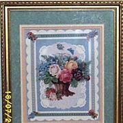 Portal..Victorian Roses & Butterfly...#B-3465...& Victorian Rose Basket..Framed Prints...Signe