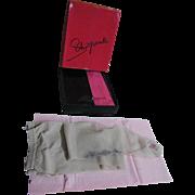 "Designer Schiaparelli Silver Embroidered GALA Nylon Panty Hose...Petite Size 5' - 5'3""..3"