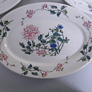 "Syracuse China Large Oval Dinner Platter Or Serving Dish..Peony Design...11.5""X8""..S"