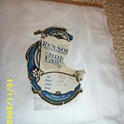White Damask Linen Tablecloth From Czechoslovakia Pre World War 11