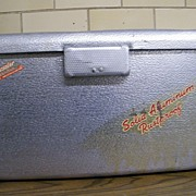 SALE 1950's THERMASTER Poloron Cooler..Hammered Aluminum..Good Used Condition
