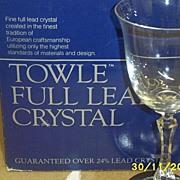SOLD HOLD FOR LYNN...Towle Kirkland Lead Crystal Stemware ---Three Sizes ---12 Piece Set
