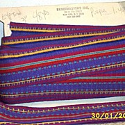 "Wide Mexican Fancy Stripe Combed Cotton Woven Ribbon Trim [3""wide]"
