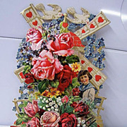 SALE PENDING Valentine Po-Up Greeting Card..Victorian..Germany..Die Cut..Embossed..Extra Large