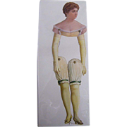 SOLD Victorian Paper Puppet...Show Girl ..New Condition