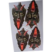 Krampus..The German Horrific Christmas Devil..1880's Die Cut..New Stock Condition..Set Of 4