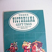 Victorian Style Small Gift Tags..Ass't With Die Cut Santas 2 Packages..Stocking / Card ...