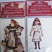 Vintage VICTORIAN STYLE Paper Doll & Costume Set ..By Merrimack Publishers..Printed. .Hong Kon