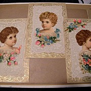 Victorian Picture Collage For Framing...Child /Girls...Set Of 3..New Condition