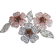 Floral Wire Beaded Wall Hanging