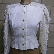 SALE DREAM... Lace & Moire Wedding Suit By Victor Costa..Size 10..Excellent Condition!
