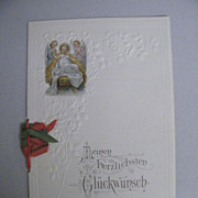Antique 1915  Christmas Card / Letter..Written In German From NJ..Printed In Germany