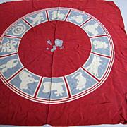 Zodiac Square Scarf.. Rayon Matelasse..By Janl Kurochiku