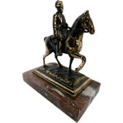 Early 20th Century Brass Napoleon on Horseback...