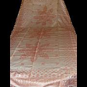 Turkey Red Damask Banquet Cloth....