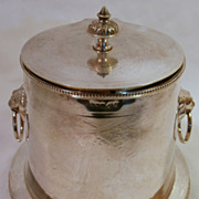 SOLD English Silverplate Biscuit Jar...