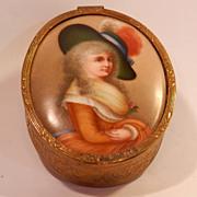 Portrait on Porcelain Trinket Box...