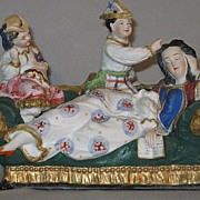 Victorian Bisque Figural Group....