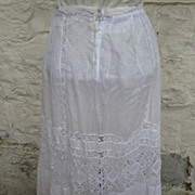 Edwardian Lace and Cotton Petticoat....