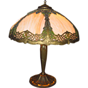 Early 20th Century Slag Glass Lamp....