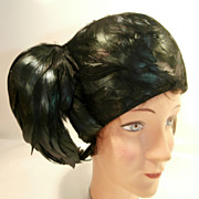 Mid-Century Feather Hat...