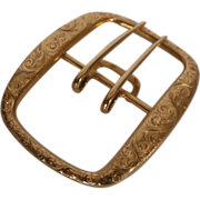 Early 20th Century 14k Gold Belt Buckle...