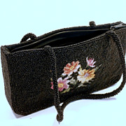1950's Black Beaded Purse...