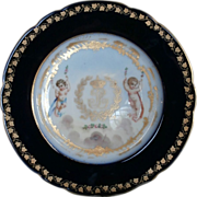 mid-19th Century Gilded Sevres Plate...