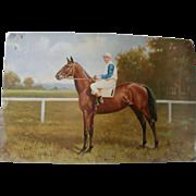 "1915 Derby Winner Lithograph/ ""Rosebud""..."