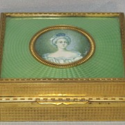 Guilloche and Brass Cigarette Box.....