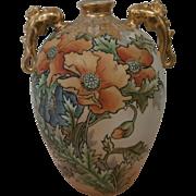 Hand Painted Nippon Vase...