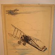 Sopwith Snipe Original Drawing... Circa/ 1938..