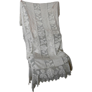 Vintage Linen and Lace Bedspread..