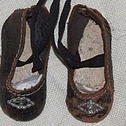 SOLD Antique Bebe Shoes, Rare Size 0