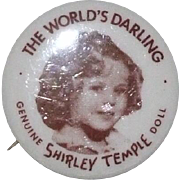 REDUCED Replacement Shirley Temple doll's button