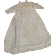 """Vintage baby gown for 10-12"""" doll"""