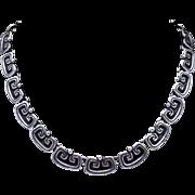 """Los Castillo Taxco Mexican Sterling Silver 15"""" Necklace"""
