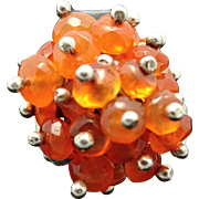 Pat Areias Fire Opal Sterling Silver Ring 7 1/2