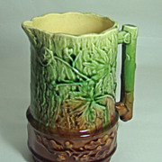 English Oak Leaf & Acorn Majolica Pitcher – Circa: Mid to Late 1800's