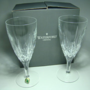Boxed Set of Two Waterford Crystal Footed Beverage Glasses – Lismore Traditions Pattern, Mad