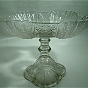 "EAPG Square Compote – Portland Glass Company – ""Shell and Tassel Pattern – Circa: 1860"